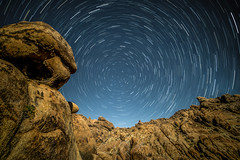 Circling around North Star (ScorpioOnSUP) Tags: a7iii alabamahills bigdipper northstar polaris sony adventure astrophotography backcountry canyon chasingstars circling clearnightsky fullmoon landscape landscapephotography moonlit nature nightsky outdoors rockformations seekingsolitude startrails starrynight stars tranquility wilderness