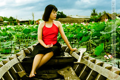DSC_2647 (Hosting and Web Development) Tags: lotus leg leaf green red sit shoulder sky portrait person pond arm asia hair horizontal body beautiful clothing costume old d90 dress face female young hand one outdoor woman eyes eye nikon