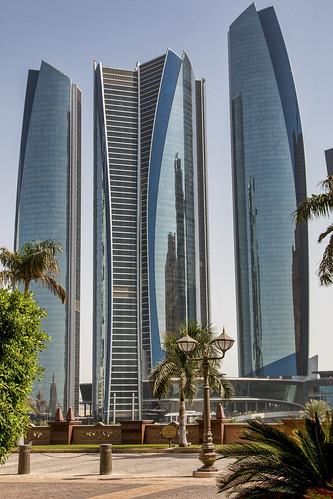 Jumeirah Hotel at Etihad Residences viewed from the Emirates Palace Hotel, Abu Dhabi