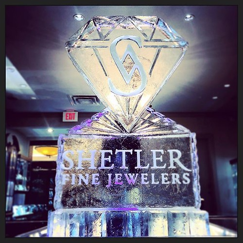 Swing by @shetlerfinejewelers today to see their great deals on fine #jewelry #fullspectrumice #logo #icesculpture #thinkoutsidetheblocks #brrriliant - Full Spectrum Ice Sculpture
