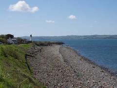 0222 Beach beside Burnfoot Bridge Picnic platz at Cairnryan (Andy - Busy Bob) Tags: bbb beach lochryanlighthouse sea shingle sss water www holsday02
