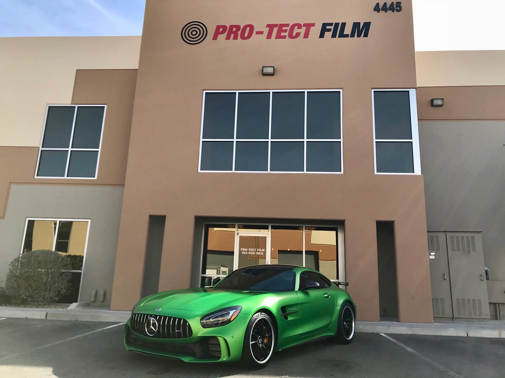 The entire vehicle was wrapped in XPEL STEALTH paint protection film.