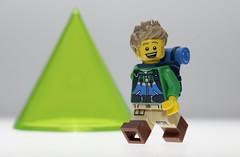The Hiker (N.the.Kudzu) Tags: tabletop lego miniature hiker canondslr primelens manualfocus lensbabyvelvet56 dxoopticspro11