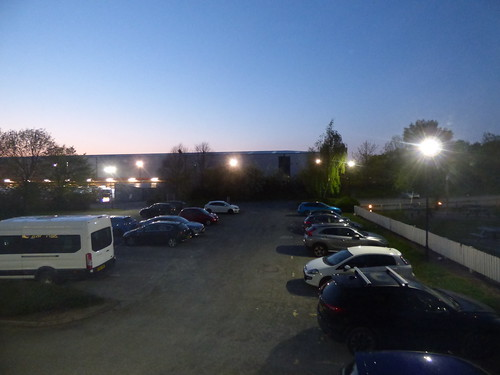Premier Inn Warrington M62 J9 - car park after dark