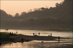 Luang Prabang II (eekaphot) Tags: laos pentax pentax1650f28 pentax50135f28 people water justpentax luangprabang mekongriver evening