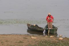 0755 Red Sweater Man (Hrvoje Simich - gaZZda) Tags: outdoors people man smoker red sweater water shore shoreline boats phewalake lake pokhara nepal asia nikon nikond750 nikkor283003556 gazzda hrvojesimich
