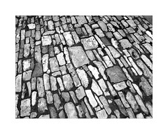 Abstract Walking (YIP2) Tags: old past vintage stone abandoned outside abstract minimal decay lines remains simple detail minimalism texture surface worn nostalgia line urban details less urbandetail pattern curve bw blackwhite pavement