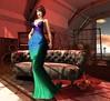 back at Borneo (JoytiBloom of Second Life) Tags: design theavenue red blue green borneo fashion photography viki belleza maitreya slink