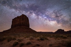 Midnight Mittens (justin_crny24) Tags: arizona monumentvalley mittens 5dmarkiv photography canon longexposure milkyway photos landscape utah