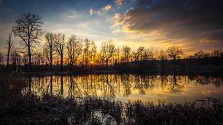 Sunset over Łężczok