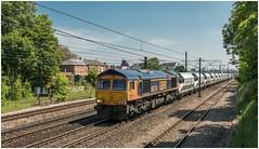 66774. Running again ............. (Alan Burkwood) Tags: ecml retford gbrf 66774 6e83 middletontowersbarnbydun freight sand loaded diesel locomotive