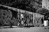 Painting a wall (rwibring) Tags: 45mm bw blackandwhite f18 graffiti park spraypaint stockholm summer sweden tamron tanto wall d7200 nikon nikkor