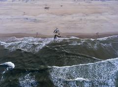 Atlantic Ocean waves on Manasquan Beach, captured by a DJI Phantom 4 drone. (apardavila) Tags: atlanticocean djiphantom4 jerseyshore manasquan manasquanbeach aerial drone ocean waves