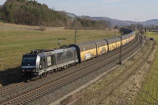 D MRCE Rail Cargo Carrier - PCT 185 566-7 Harrbach 24-02-2018