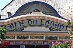 Café du Levant (just.Luc) Tags: bordeaux gironde nouvelleaquitaine letters lettres words mots woorden wörter sign café restaurant france frankrijk frankreich francia frança europa europe mozaïek mosaic mosaïque mosaik