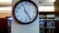 Library clock! 365/212 (Maenette1) Tags: library clock 1125am books spiespubliclibrary menominee uppermichigan flicker365 allthingsmichigan absolutemichigan project365 projectmichigan