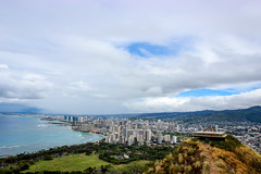 Waikiki View (Alison Claire~) Tags: diamondhead honolulu hawaiiviewcitywaikiki state monument oahu clouds landscape urban nature natural beach tourism canon canoneos canoneos600d travel ocean blue water grass native mountain cloudscape light weather pill box