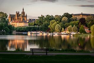Metz - Plan d'eau - Cathédrale