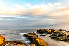 Ocean (dayonkaede) Tags: angler wave rock nature noon cloud boat nikon d750 200mm f18