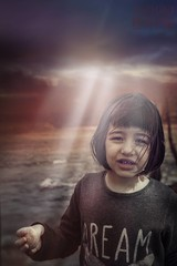 Dream (Andoni Fernández photography) Tags: dream light lights lineas lines rock piedra luz girl sky rayo