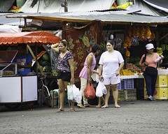 Waiting (Beegee49) Tags: street market people waiting shopping women filipina bacolod city philippines