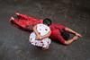 Dondi (SaumalyaGhosh.com) Tags: peope ritual color red street streetphotography india kolkata girl mother god hindu xt2