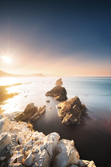 Mupe Bay (tariqphoto) Tags: mupe bay dorset uk england sunrise may 2018 seascape seascapes landscapes landscape long exposure sony zeiss loxia 21mm lee filters rocks sea stacks purbeck firing range lulworth cove coastline coast cliffs coastal sky air water waves explore earth travel travelling jurassic sun ocean alpha south mirrorless nature