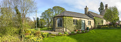 Yorkshire Cottage (Kev Gregory (General)) Tags: yorkshire cttage stables sunny panorama grass gardens flowers bushes beautiful kev gregory canon 7d blue sky white clouds weather green