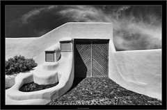 the door to heaven (Dierk Topp) Tags: a7rii a7rm2 bw himmel ilce7rii ilce7rm2 sonya7rii architecture canaryislands clouds islascanarias lapalma monochrom sw sony wolken