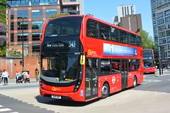 SN18 KMK (EH273) Go-Ahead London Central (hotspur_star) Tags: londontransport londonbuses londonbus londonbuses2018 alexanderdennisltd enviro400hmmc tfl transportforlondon hybridbus hybridtechnology busscene2018 doubledeck goaheadlondoncentral sn18kmk eh273 343