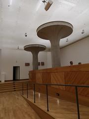 2018-05-FL-184978 (acme london) Tags: auditorium columns concrete jamesstirling lighting mushroom staatsgalerie stuttgart suspendedceiling