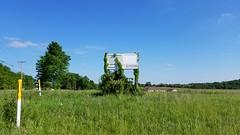NOW LEASING (dankeck) Tags: signofthetimes flickrfriday chieftain industrialpark land warehouse chieftaindrive hockingcounty loganohio ohio business development zone vine overgrown overgrowth sign field southern southeastern appalachia