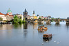 River Vltava, Charles Bridge and the Old Town Bridge Tower ~ Prague. (RiserDog) Tags: rivervlvata charlesbridge oldtownofprague oldtown oldtownbridgetower prgue czechrepublic