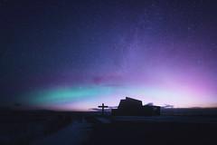 Blondous Night Sky (Atmospherics) Tags: iceland aurora nightscene auroraandstars starrynight northerniceland vastness vast astrophotograhy winterscene icleand northernlights atmospherics winternightsky