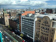 View of Great Victoria Street from Penthouse of Belfast Europa Hotel (John D McDonald) Tags: greatvictoriastreet belfast northernireland ni ulster geotagged iphone appleiphone iphone7plus appleiphone7plus city cityscape