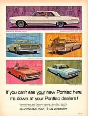 1964 Pontiac Canadian Models (aldenjewell) Tags: 1964 pontiac parisienne custom sport coupe laurentian 4door sedan strato chief 6passenger safari station wagon convertible canada ad