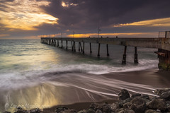 Drama, Who Me?  :) (Laura Macky) Tags: pacifica pier sunset landscape seascape