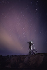 Virginia City, Nevada Star Trail (Russell Eck) Tags: night long exposure stars star trail nevada virginia city landscape old mining equipment abandoned comstock lode sky history strobist