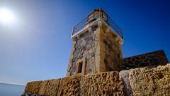 Monemvasia (Ioannisdg) Tags: ioannisdg greece monemvasia lighthouse ioannisdgiannakopoulos flickr decentralizedadministrationof decentralizedadministrationofpeloponnesewesterngreeceandtheionian gr ithinkthisisart summer travel vacation castle medieval stone rock sea