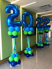 Welcome the Class of 2022 (PartiLife) Tags: royalblue lime fashionblue graduation megaloons columns