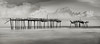 Fading away (Del.Higgins) Tags: blackwhite long exposure longexposure monochrome pano panorama outer banks north carolina storm pier frisco atlantic ocean hurricane irma mathew olympus omd landscape seascape