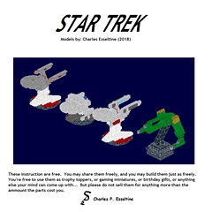 Star Trek Ships page (00) (origamiguy1971) Tags: bluebrint startrek star trek lego esseltine enterprise klingon reliant kahn tos movie moc instructions