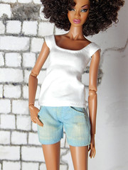 Capsule Collection – the basic white shirt (Levitation_inc.) Tags: ooak doll clothes clothing fashion fashions dolls handmade etsy levitation levitationfashion royalty fr fr2 nuface poppy parker barbie made move outfit black white basic basics capsule collection wardrobe soul deep adele