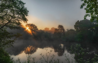 Misty River Dee at Eccleston, Chester
