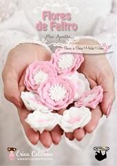 Mini apostila Flores de feltro: molde + PAP + vídeo ✿ (Ei menina! - Érica Catarina) Tags: tutorial apostila flores floresdefeltro molde pap parceria rendicolla passoapasso diy