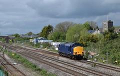 37612 at Magor. 4/5/18 (Nick Wilcock) Tags: class37 376 37612 harryneedle drs magor cardiffcanton derbyrtc railways wales