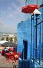 Café Jean Genet (mhobl) Tags: blue red color café larache maroc morocco