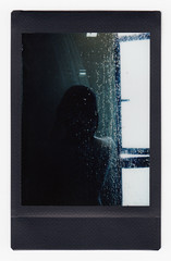 (Hem.Odd) Tags: shower silhouette window instaxmini90 instant black fujifilm