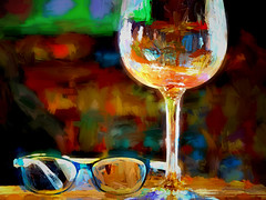 glasses (boriches) Tags: glasses winery woolery ozarks missouri painterly