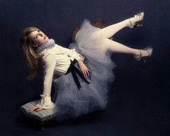 Alice in the Dollhouse (Giulia Valente) Tags: portrait portraiture woman beauty beautiful alone cinematic cinema movie story romance romantic one looking light shadow dark beam darkness mood moody atmosphere low key dream inspiring doll alice wonderland